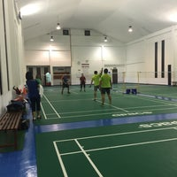 Photo taken at Venetian Badminton Court by Eyka Atiqah E. on 8/30/2016