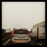 Photo taken at A4 - Barriera «Milano Ghisolfa» by Gabel G. on 12/17/2012