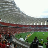 Photo taken at Beira-Rio Stadium by Gabriela G. on 2/16/2014