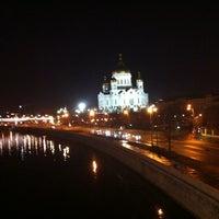 Photo taken at Bolshoy Kamenny Bridge by Tausha on 4/12/2013