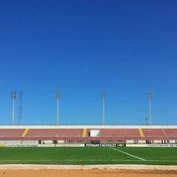 Photo taken at Estádio Municipal José Nazareno do Nascimento (Nazarenão) by Rodrigo L. on 3/31/2013