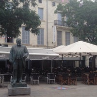 Photo taken at Place Jean Jaurès by Pedro C. on 7/19/2014