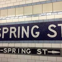 Photo taken at MTA Subway - Spring St (6) by Olivier K. on 7/29/2013