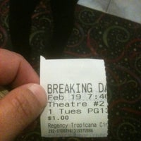 Photo taken at Regency Tropicana Cinemas by Andrea A. on 2/20/2013