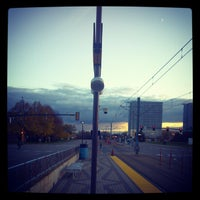 Photo taken at American Boulevard LRT Station by Recliner Jockey on 10/19/2012