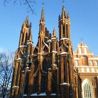 Photo taken at Šv. Onos Bažnyčia | St Anne's Church by Donatas G. on 12/23/2012