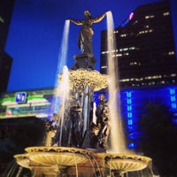 Photo taken at Fountain Square by Abe on 6/6/2013