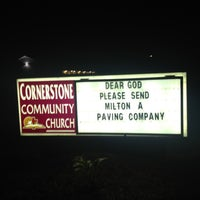 Photo taken at Cornerstone Church by Meredith P. on 9/26/2012