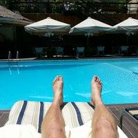 Photo taken at La piscine de l'Hotel Memling by Christoph L. on 2/4/2013