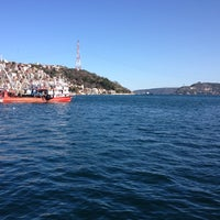 Photo taken at Sarıyer Sahili by Funda A. on 2/5/2013