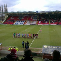 Photo taken at Sincil Bank Stadium-Lincoln City Football Club by Joel M. on 2/23/2013