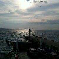 Photo taken at Geyikli Feribot İskelesi by Taner T. on 10/27/2012