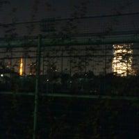 Photo taken at 青山運動場 野球場 by To M. on 11/22/2012