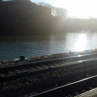 Photo taken at Metro North - Marble Hill Train Station by Monica S. on 3/9/2013