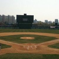 Photo taken at Mudeung Baseball Stadium by Sunny P. on 3/31/2013