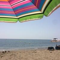 Photo taken at Playa Luna Beach by Антон Ч. on 9/6/2016