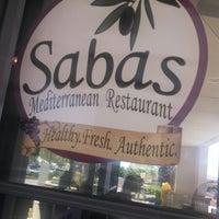 Photo taken at Sabas Mediterranean Restaurant by James F. on 5/10/2013