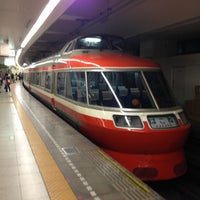 Photo taken at 小田急 新宿駅 2-3番線ホーム by Gackoo . on 3/9/2013