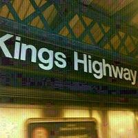 Photo taken at MTA Subway - Kings Highway (B/Q) by **Heath** on 3/11/2013