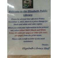 Photo taken at Elizabeth Public Library by Peter S. on 11/5/2013