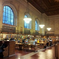Photo taken at Rose Main Reading Room - New York Public Library by Mauro D. on 12/7/2011