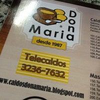 Photo taken at Caldos Dona Maria by Larissa M. on 8/26/2012