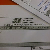 Photo taken at Golden Screen Cinemas (GSC) by End W. on 2/16/2012