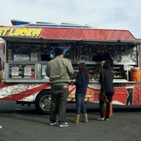 Photo taken at Fukuburger Truck by Alex S. on 1/19/2012