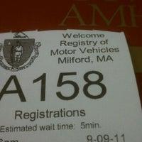 Photo taken at Registry of Motor Vehicles by Dexter K. on 9/9/2011