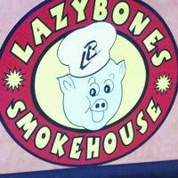 Photo taken at Lazybones Smokehouse by Bill P. on 3/21/2012