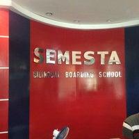 Photo taken at Semesta Billingual Boarding School by Ali K. on 2/13/2013