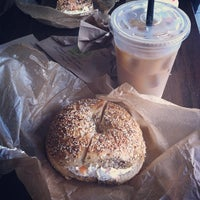 Photo taken at Brooklyn Bagel & Coffee Co. by Carleigh R. on 10/6/2012