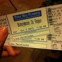 Photo taken at Paper Mill Playhouse by Lisa P. on 10/5/2013