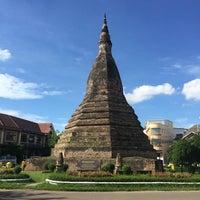 Photo taken at That Dam Stupa by singh on 6/26/2016