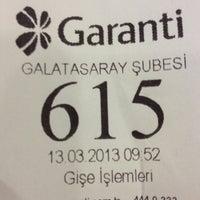 Photo taken at Garanti Bankası by Emre B. on 3/13/2013