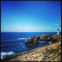 Photo taken at Yaquina Head Lighthouse by Nathan S. on 3/29/2013