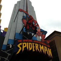 Photo taken at The Amazing Adventures of Spider-Man by Leonardo C. on 4/3/2013