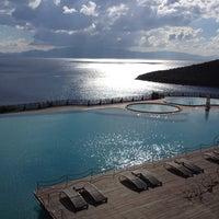 Photo taken at Kempinski Hotel Barbaros Bay by Murat K. on 1/8/2013
