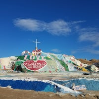 Photo taken at Salvation Mountain by kat S. on 12/24/2016
