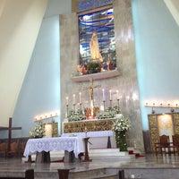 Photo taken at Igreja Nossa Senhora de Fátima e São Jorge by Aldrea . on 8/10/2013
