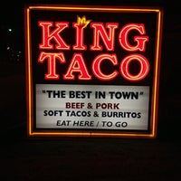 Photo taken at King Taco Restaurant by Aaron A. on 11/9/2012