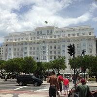 Photo taken at Belmond Copacabana Palace by Língua S. on 1/25/2013