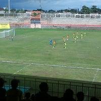 Photo taken at Stadion Kota Batik by Arief D. on 1/23/2013