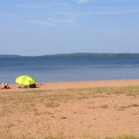 Photo taken at Lake Marie-Louise Beach by marc h. on 8/10/2014