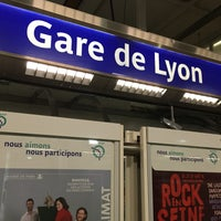Photo taken at Métro Gare de Lyon [1,14] by Munenori F. on 6/23/2016