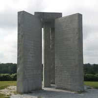 Photo taken at Georgia Guidestones by Will P. on 9/4/2014