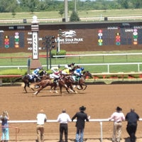 Photo taken at Lone Star Park by Tamara I. on 4/28/2013