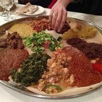 Photo taken at Demera Ethiopian Restaurant by Aaron E. on 3/24/2013