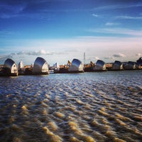 Photo taken at Thames Barrier Park by Veronika B. on 1/30/2013