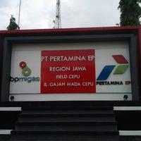 Photo taken at PT. Pertamina EP Field Cepu by Dania Trya F. on 12/29/2012
